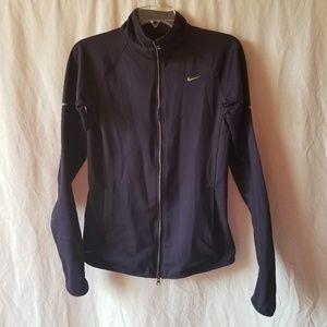 Nike purple zip up sweatshirt top size small